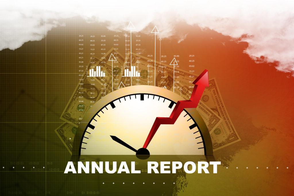 Financial annual report concept
